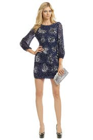 Orion Sequin Orbit Sheath by Badgley Mischka