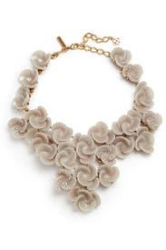 Almond Rosette Necklace by Oscar de la Renta