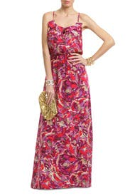 Floral Ruffle Getaway Maxi by Parker