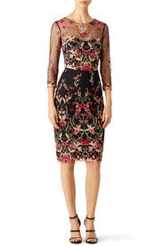Woven Hem Cocktail Dress by Marchesa Notte