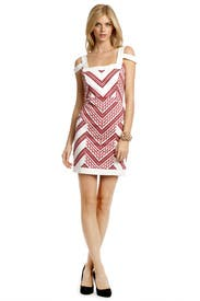 Chevron Chase Dress by Thakoon