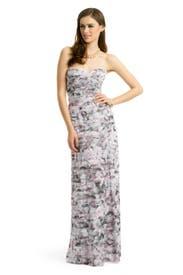 Feminine Floral Gown by BCBGMAXAZRIA