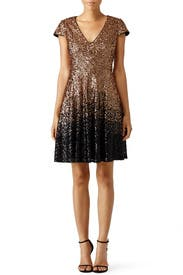 Ombre Natasha Dress by Badgley Mischka