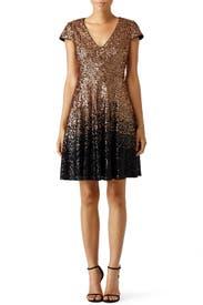 Ombre Natasha Dress by Badgley Mischka