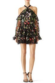 Black Floral Adeline Dress by Alexis