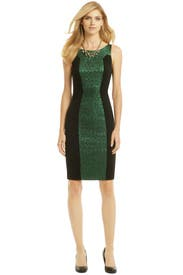 Green Illusionist Sheath by Badgley Mischka