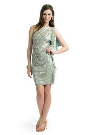 Aqua Wonder Dress by Badgley Mischka