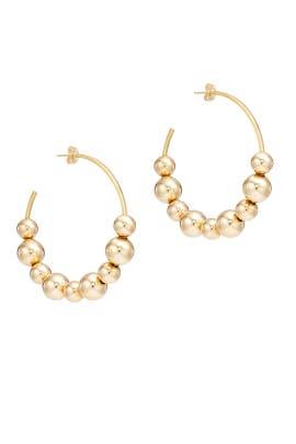 Spherical Hoop Earrings by Daughter