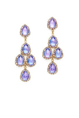 Periwinkle Duchess Earrings by Erickson Beamon
