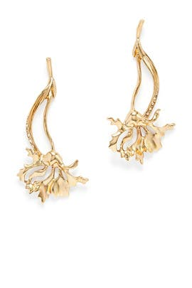Light Gold Carnation Earring by Oscar de la Renta