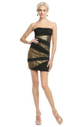 Robert Rodriguez Black Label - Sequin Inserts Mini Dress