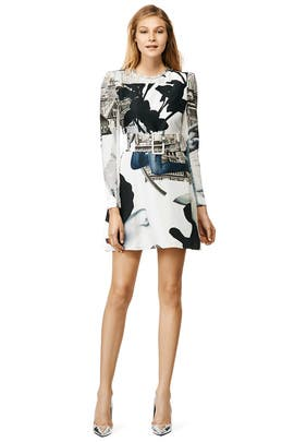Metro Print Dress by Carven