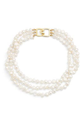 Layered Pearl Necklace by Kenneth Jay Lane