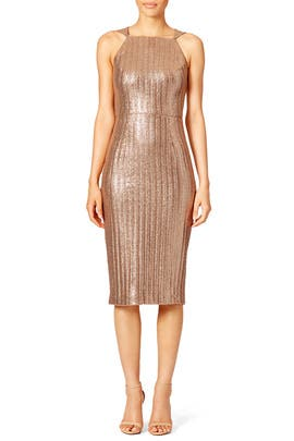 Metallic Knit Dress by Christian Siriano