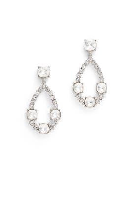 Crystal Open Teardrop Earrings by Kenneth Jay Lane