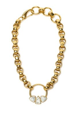 Gold Rodeo Necklace by Lizzie Fortunato