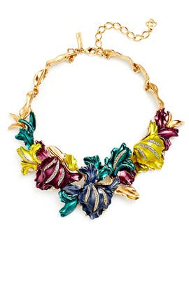 Multicolor Tulip Necklace by Oscar de la Renta