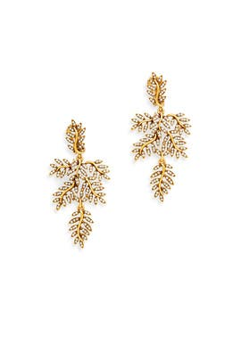 Oscar de la Renta - Foliage Earrings