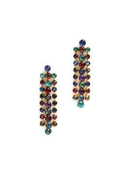 Hyperdrive Linear Multicolored Earring by Erickson Beamon