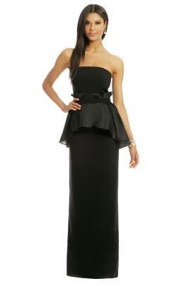 Raoul - Ruffle Waisted Peplum Gown