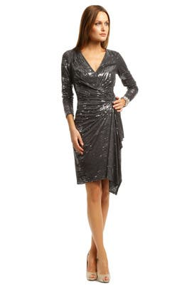 David Meister - Charcoal Cocktail Sequin Dress