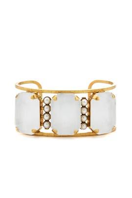Pearl White Cuff Bracelet by Elizabeth Cole