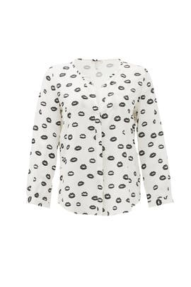 Noir Kiss Button Down by Joie