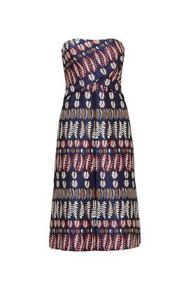 Metallic Jacquard Dress by Tory Burch