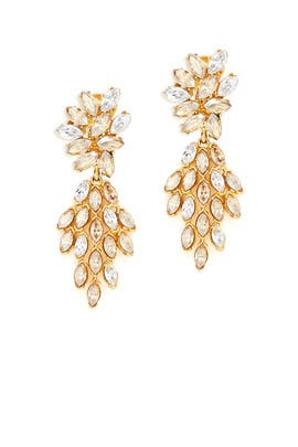 Cascading Gold Earrings by Ben-Amun