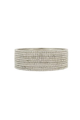 Silver Skyline Bangle Stack by Chamak by Priya Kakkar