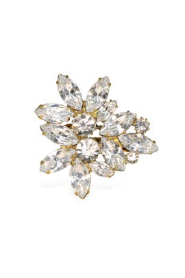 Elizabeth Cole - Crystal Navette Bloom Ring