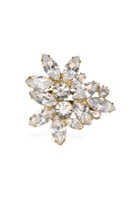 Elizabeth Cole - Crystal Navette Bloom Ring