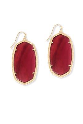 Burgundy Danielle Earrings by Kendra Scott