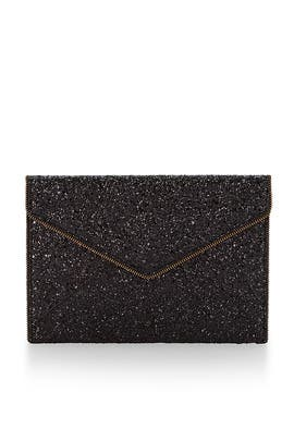 Black Leo Clutch by Rebecca Minkoff Accessories