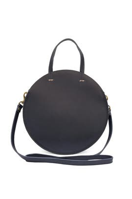 Navy Petit Alistair Supreme Bag by Clare V.