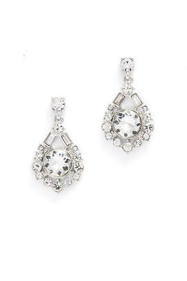 Silver Crystal Baguette Earrings by Slate & Willow Accessories