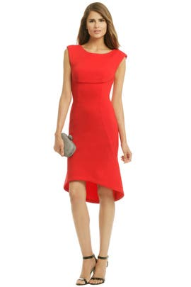 Rouge Trumpet Dress by Tracy Reese