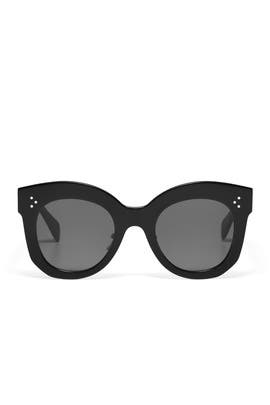 Black Chris Oversized Sunglasses by Céline