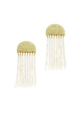 Crystal Comb Earrings by Lele Sadoughi