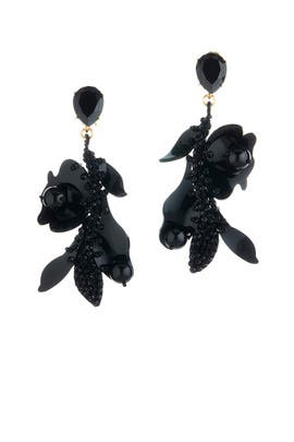 Lace Flower Earrings by Oscar de la Renta