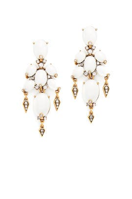 Oval Cabochon Earrings by Oscar de la Renta