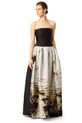 Alberta Ferretti - Brushed With Gold Gown