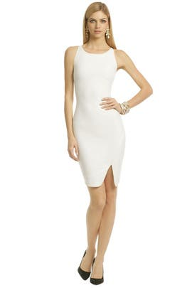 Elizabeth and James - White Bardot Dress