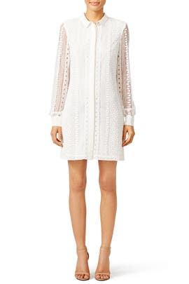 Cream Mimzy Dress by Rebecca Minkoff