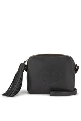 Black Smiley Crossbody Bag by Anya Hindmarch