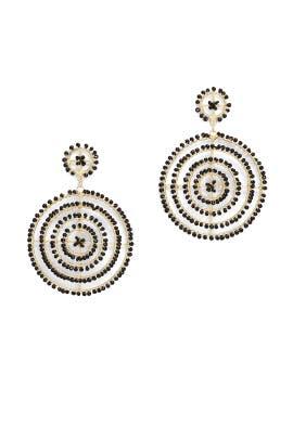 Beaded Circle Drop Earrings by Kenneth Jay Lane