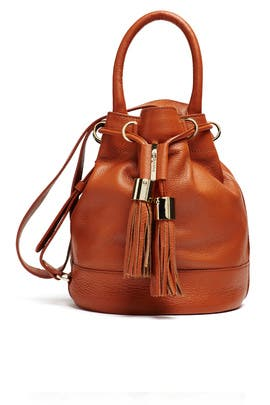 Suntan Vicki Large Leather Bucket Bag by See by Chloe Accessories