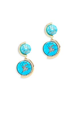 Lagoon Double Drop Earrings by Sarah Magid