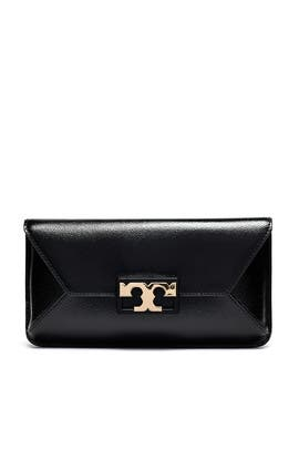 Black Gigi Clutch by Tory Burch Accessories