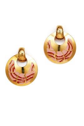 Pink Bo Shagreen Earrings by Gas Bijoux